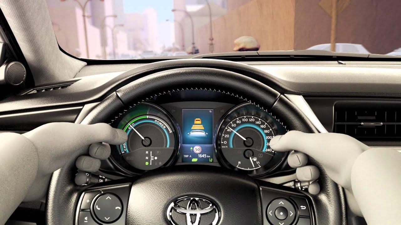 how does Toyota pre collision system work
