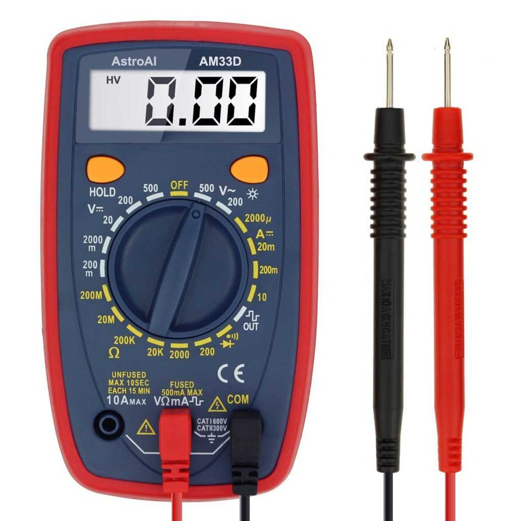 use multimeter to test battery