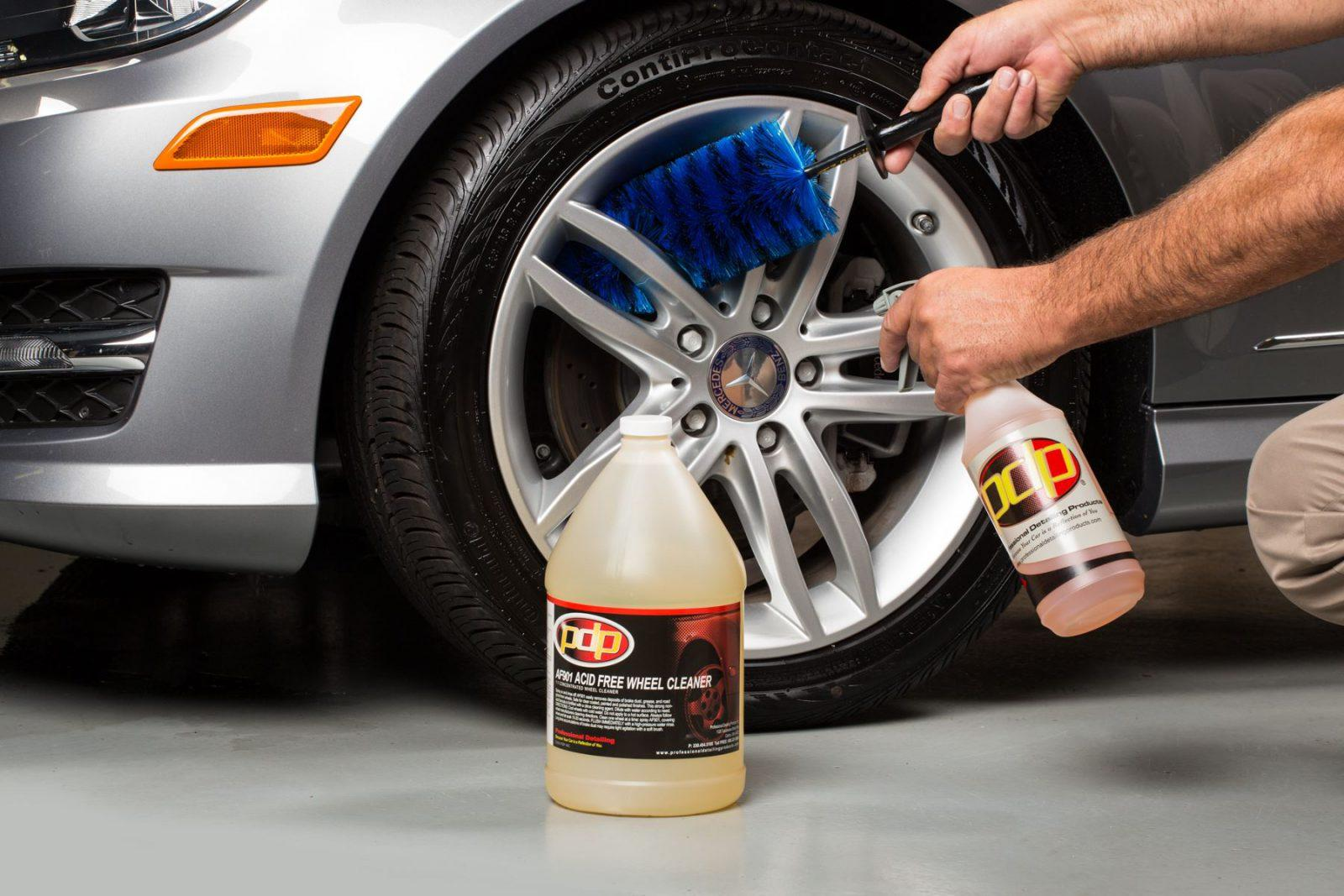 best way to clean alloy wheels
