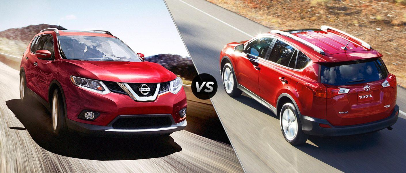 compare nissan rogue and toyota rav4