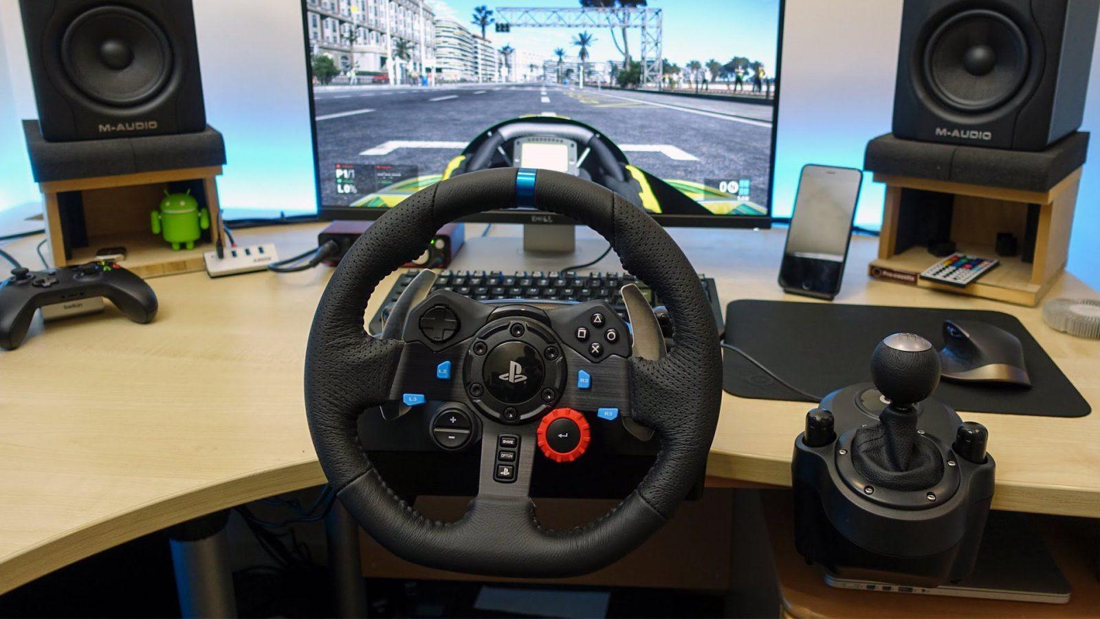 racing wheel game set