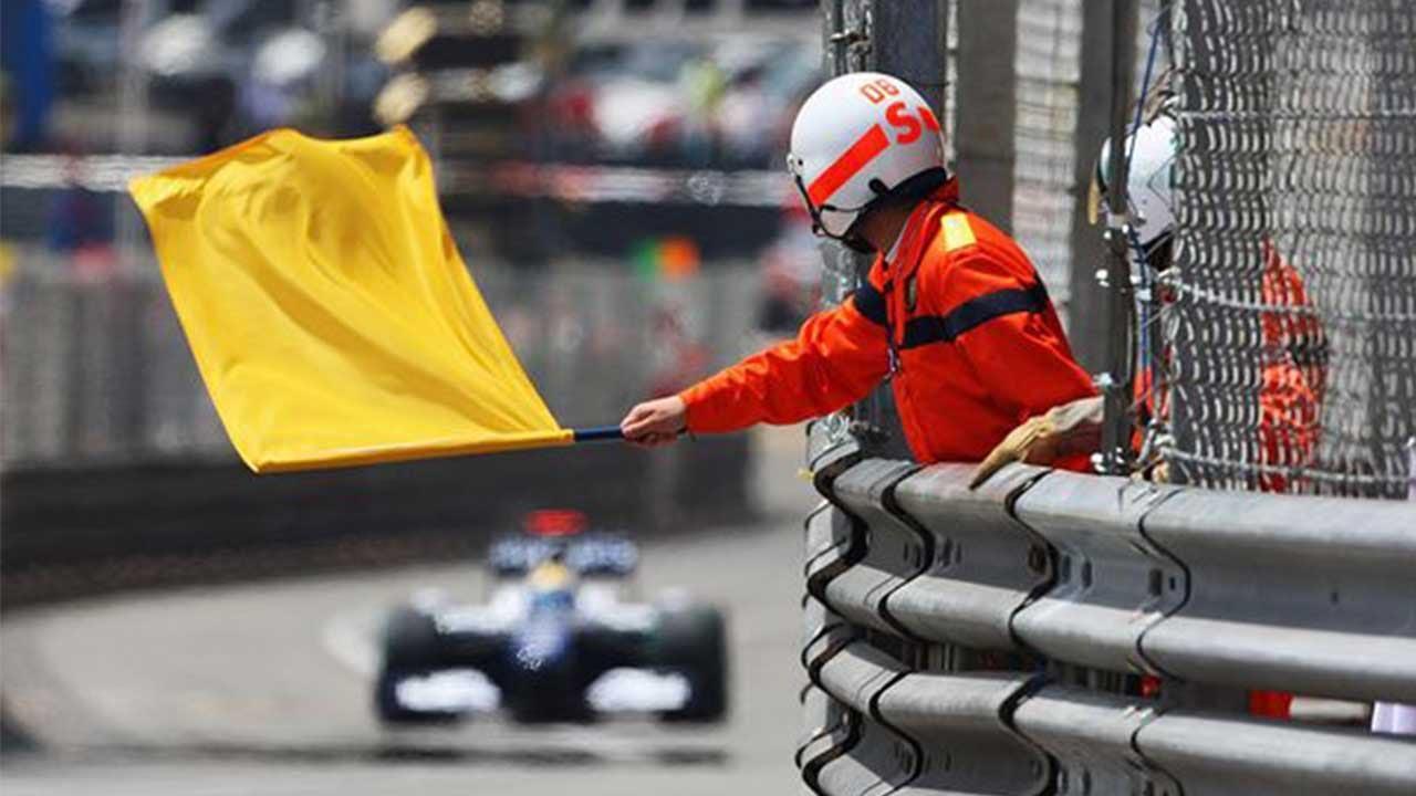 F1 yellow flag