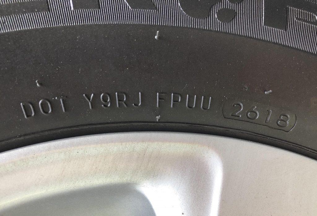 car tire DOT number