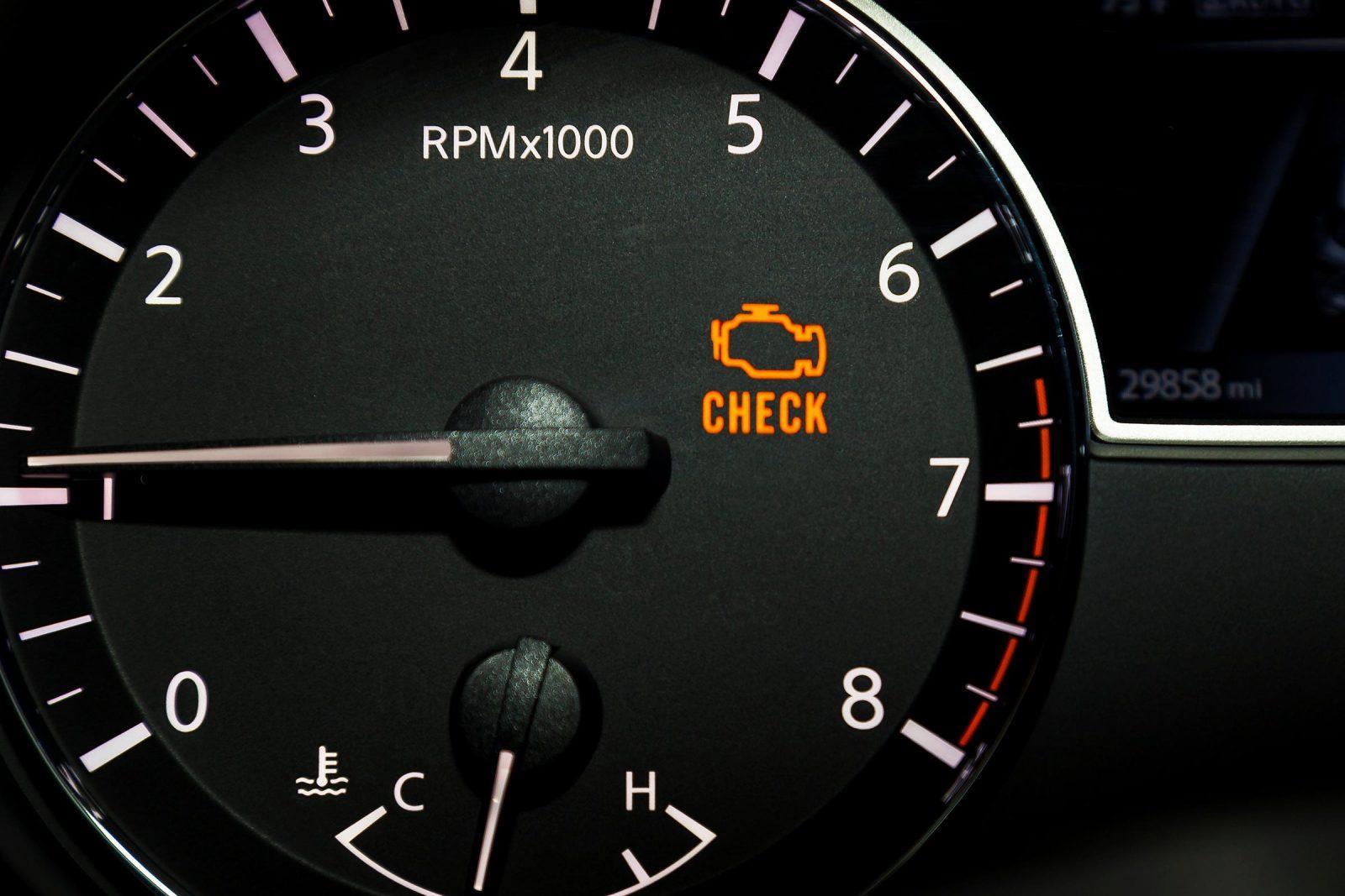 engine surging check engine light on