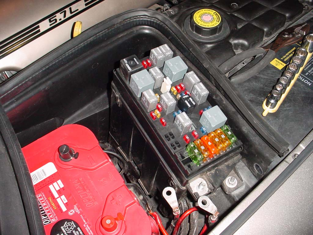 fuel pump relay in engine bay