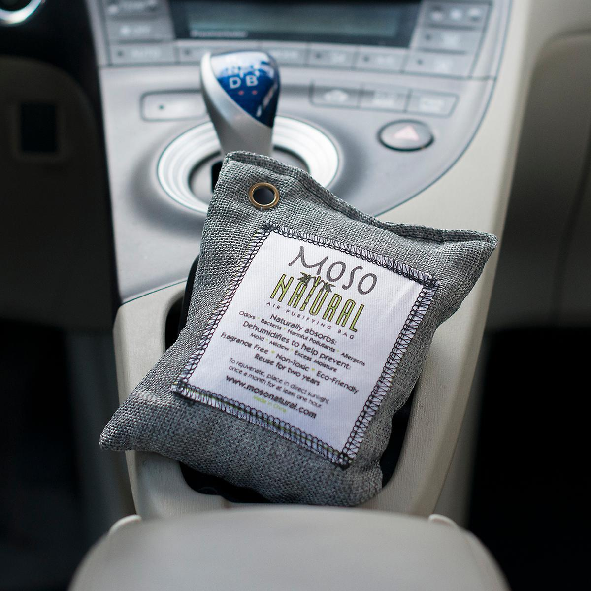 remove milk smell from car Bamboo charcoal