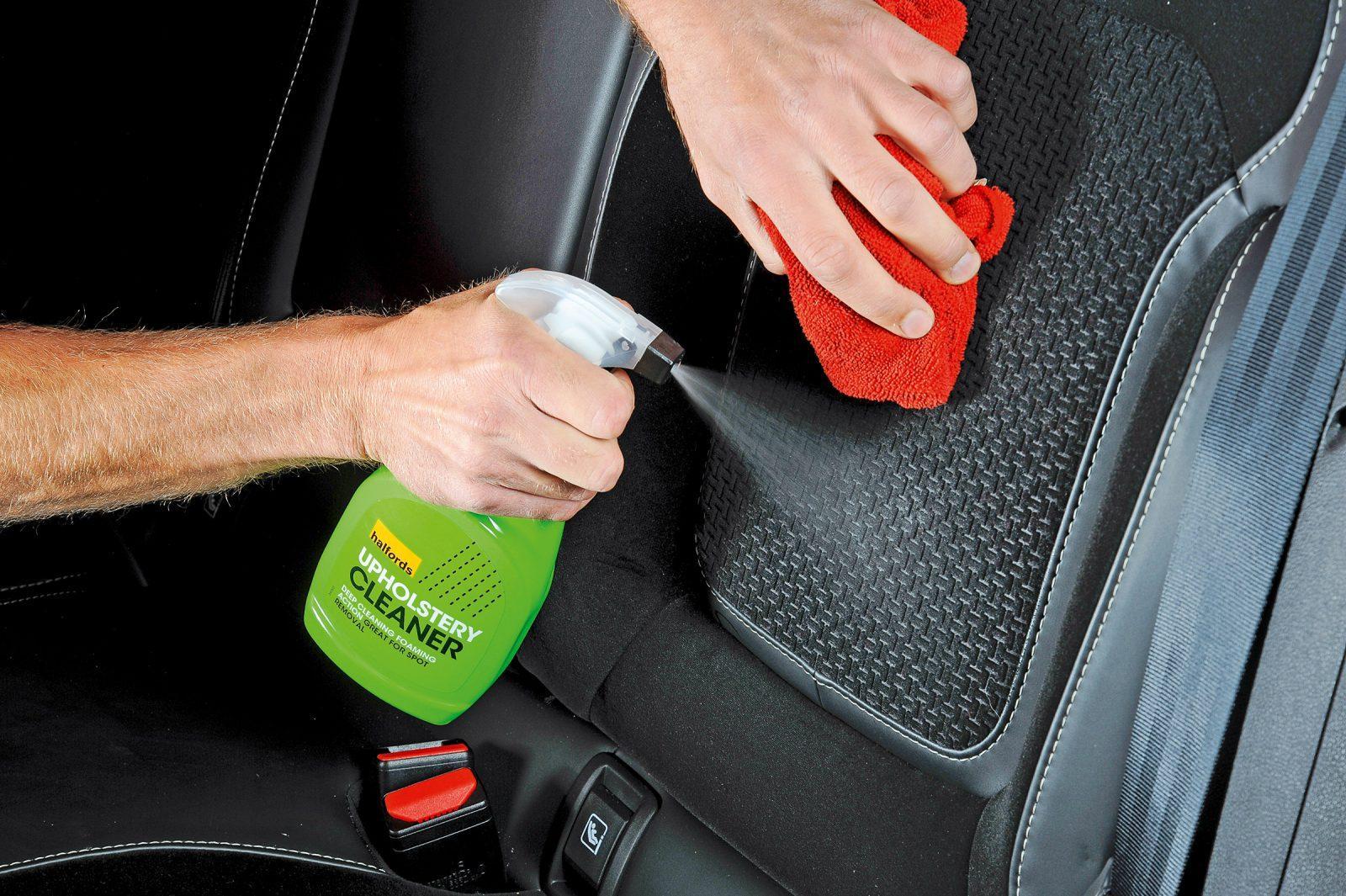 clean milk spill in car