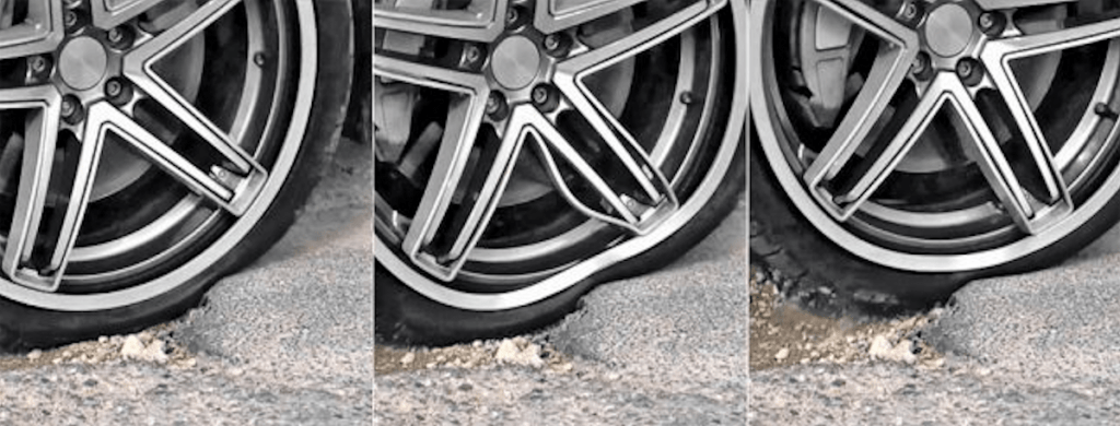 pothole damage to car suspension