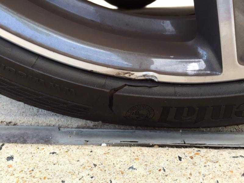 pothole damage to tire