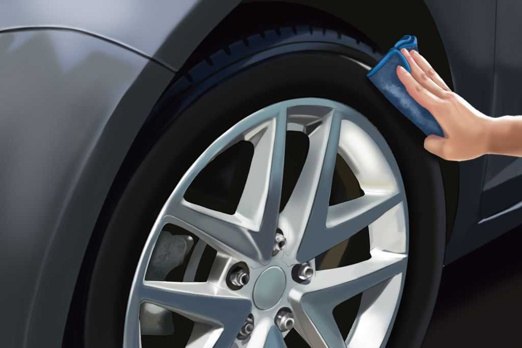 how to clean tires