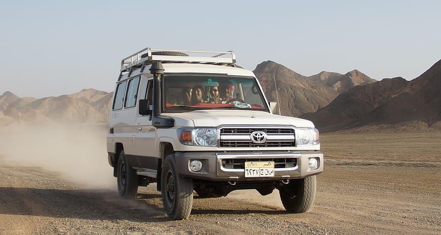 Driving Toyota Land Cruiser