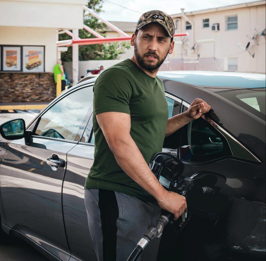 Fill gas car
