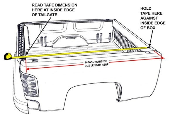 how to measure truck bed for cover