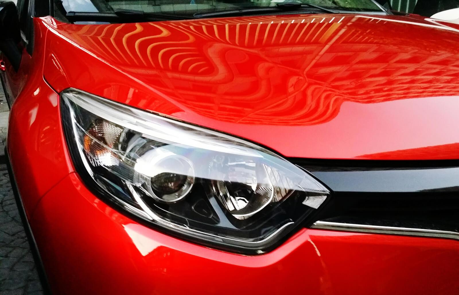 clean car headlight