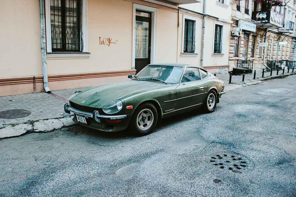 imported classic car