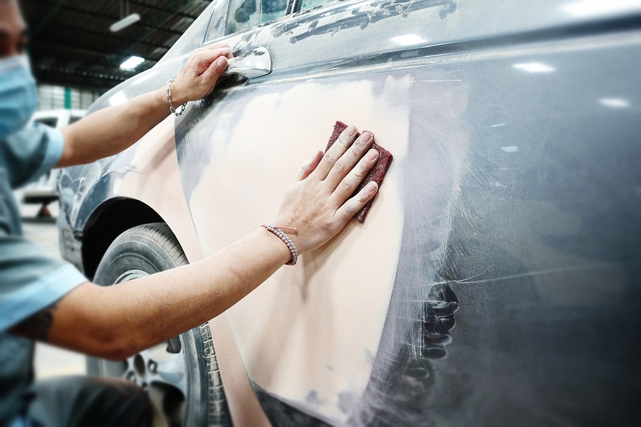 how to prep a car for painting